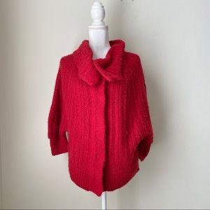 Free People Wool Blend Red Cardigan